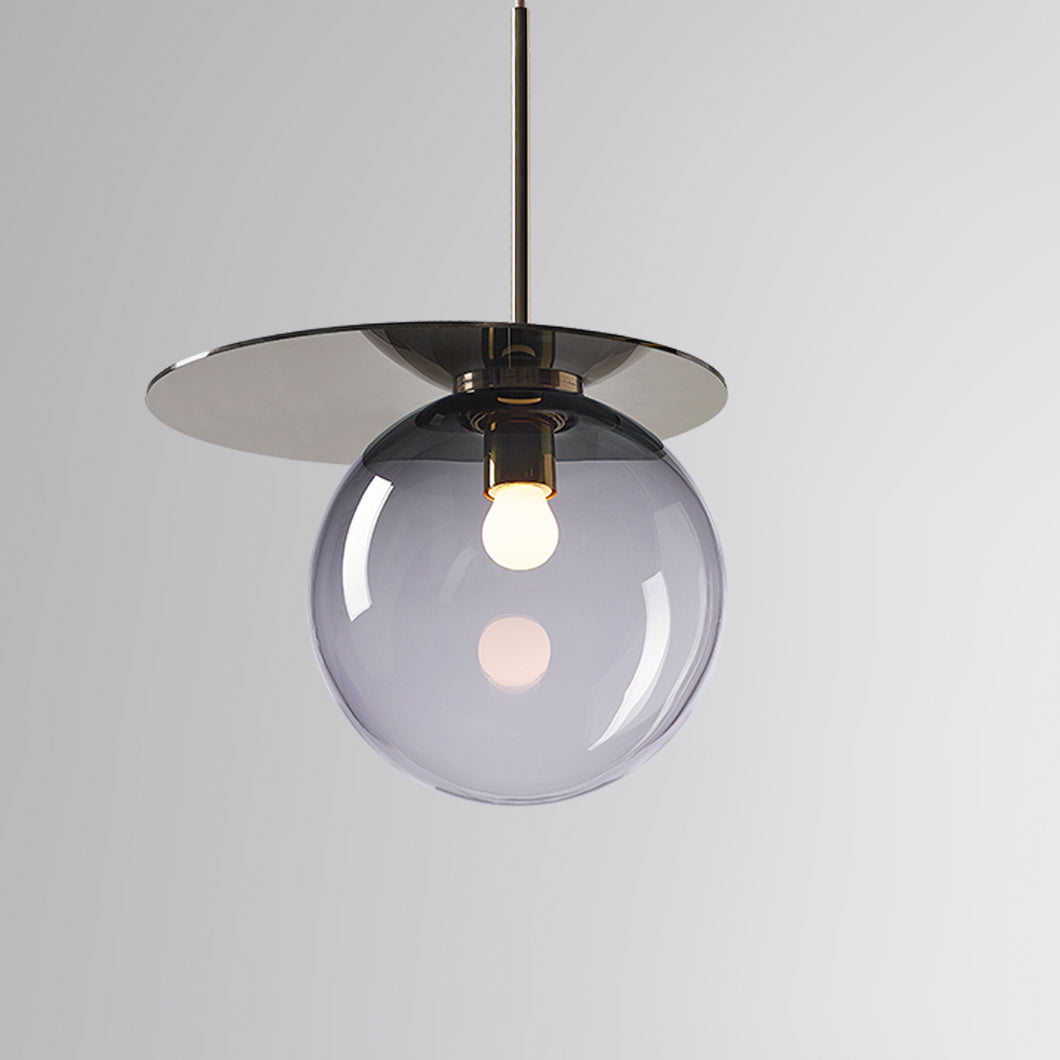 Umbra Pendant Smoke Grey, Gold Disc