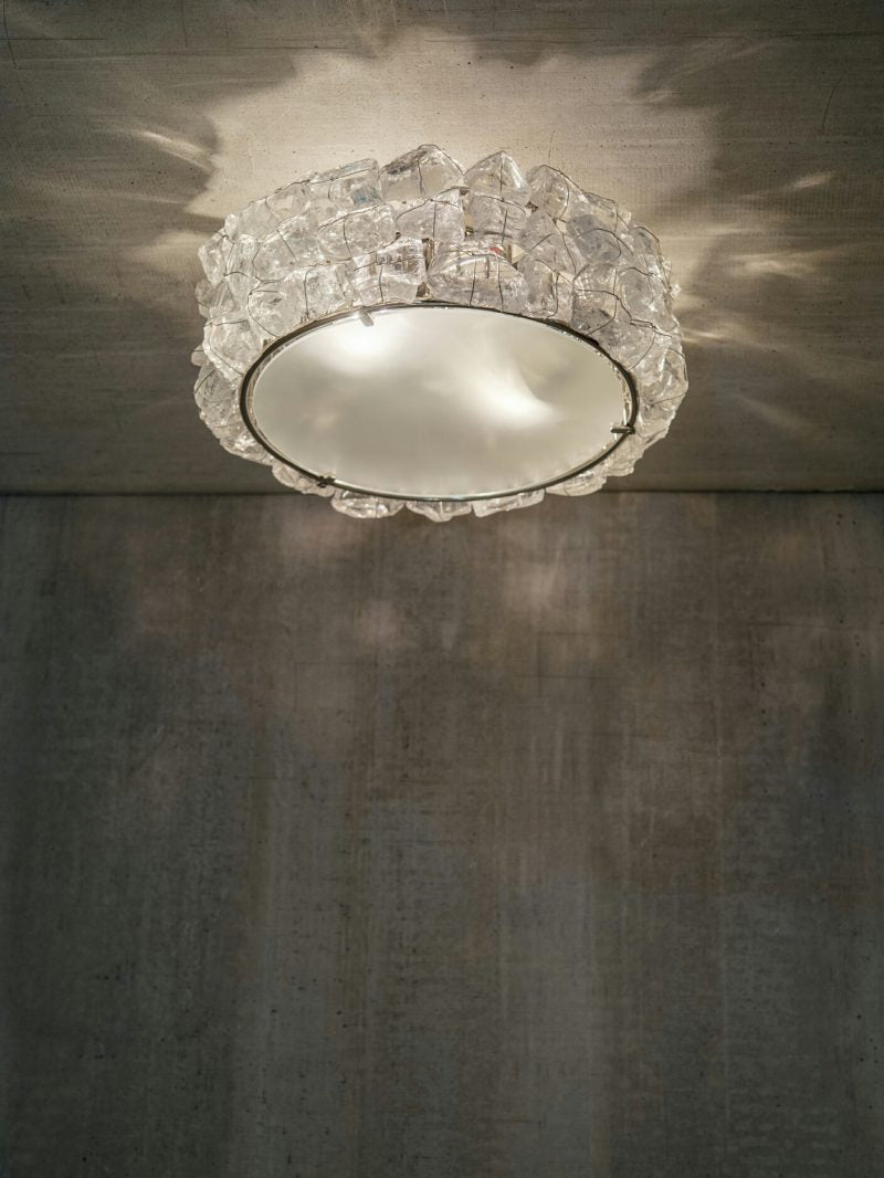 Rock Crystal Semi Flush Corona