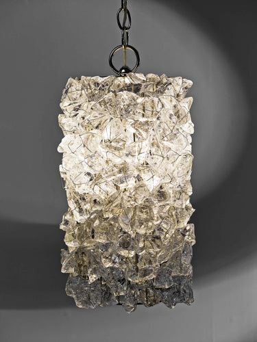 Rock Crystal Cylindrical Pendant