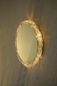 Rock Crystal Vanity Wall Sconce