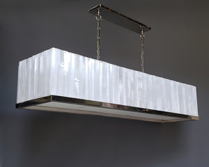 Rectangle Selenite Chandelier