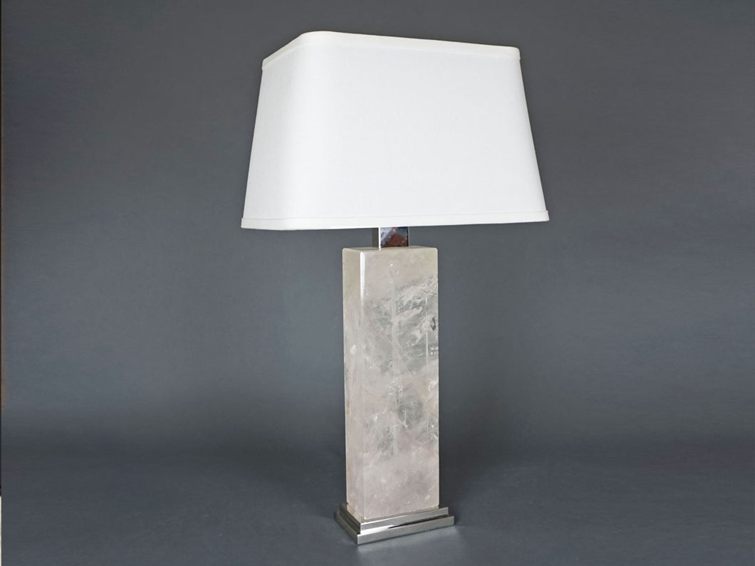 Rectangle Crystal Rock Lamp