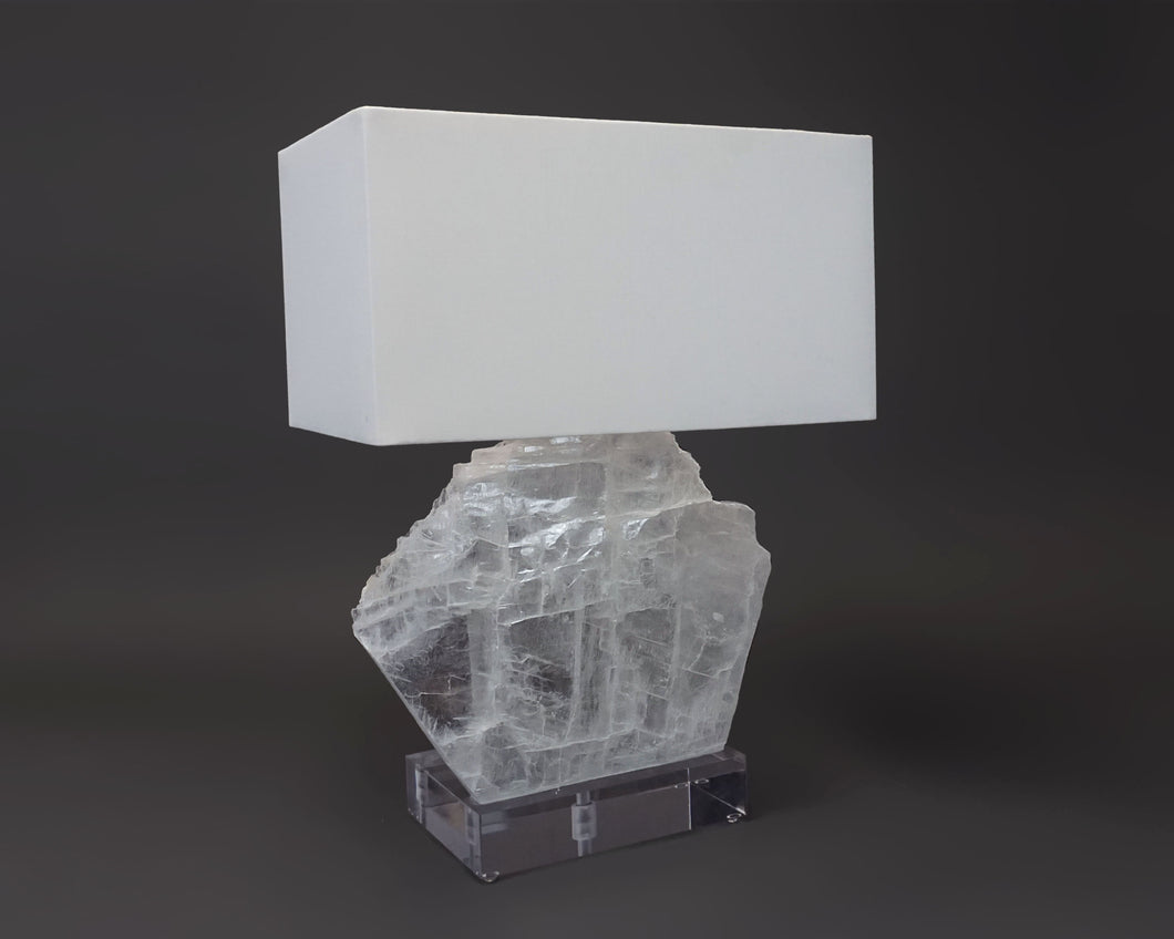 Selenite Sail Lamp