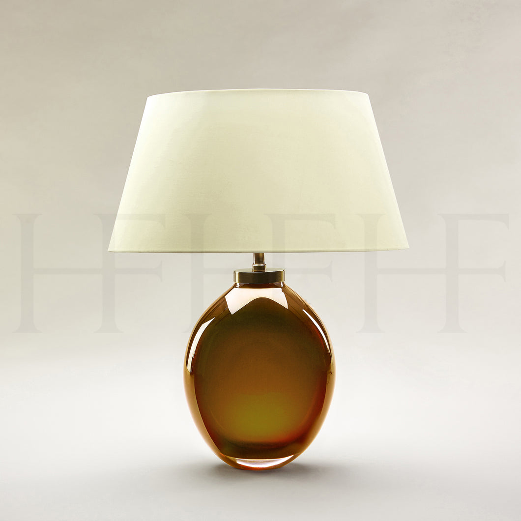 Giacomo Amber Glass Table Lamp