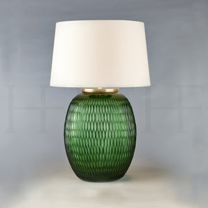 Mala Table Lamp, Medium, Emerald, Diamond