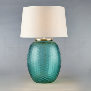 Mala Table Lamp, Large, Aquamarine, Honeycomb
