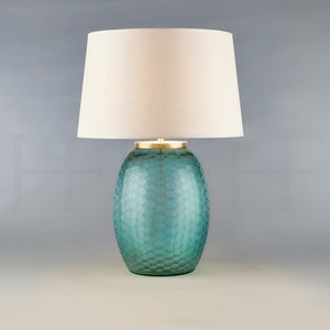 Mala Table Lamp, Medium, Aquamarine, Honeycomb