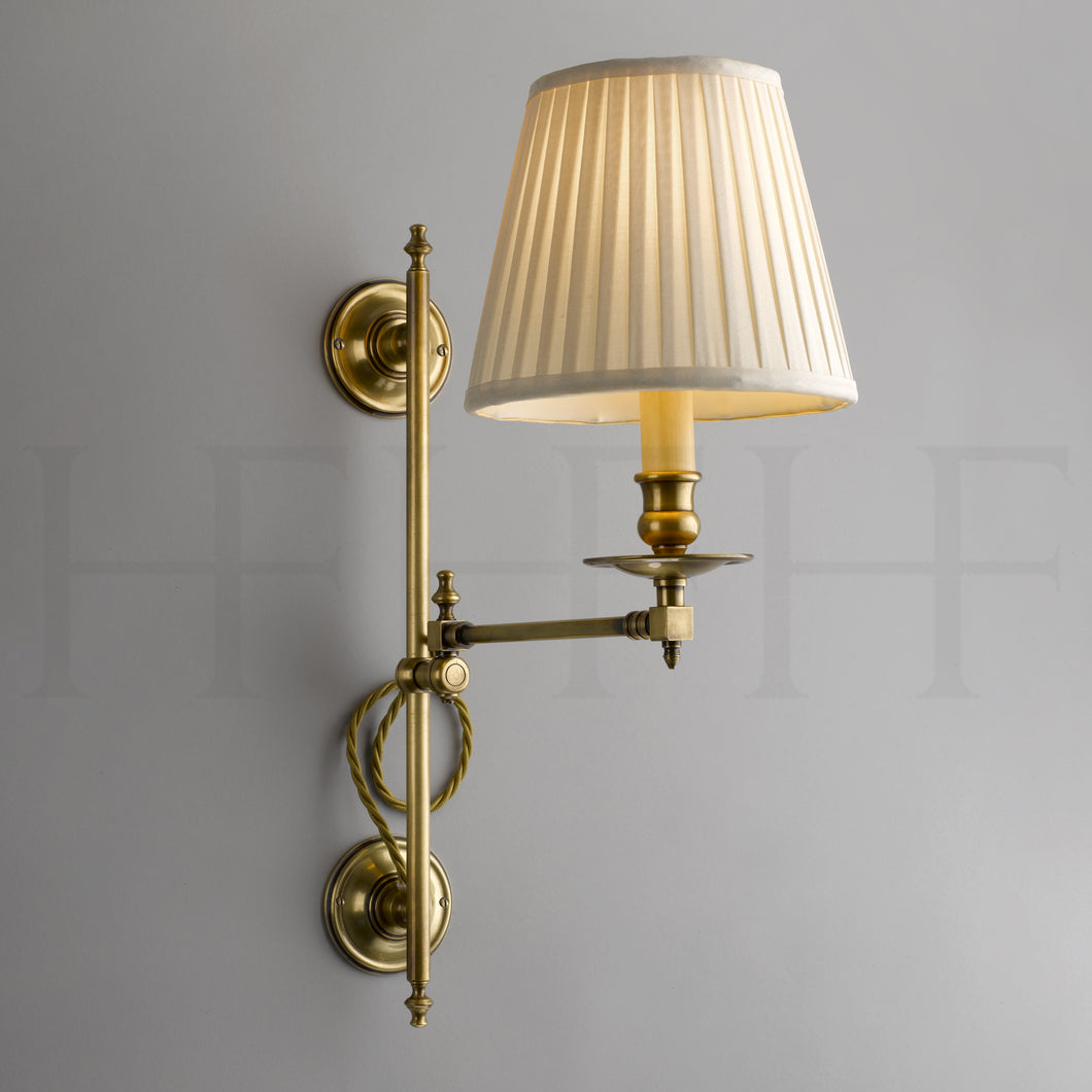 Hector Swing Arm Wall Light, Vertically Adjustable
