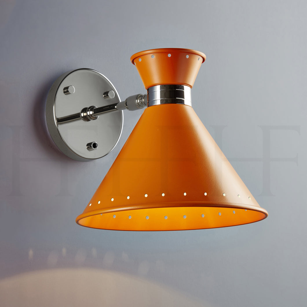 Tom Wall Light with switch, Arancio