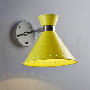 Tom Wall Light with switch, Giallo