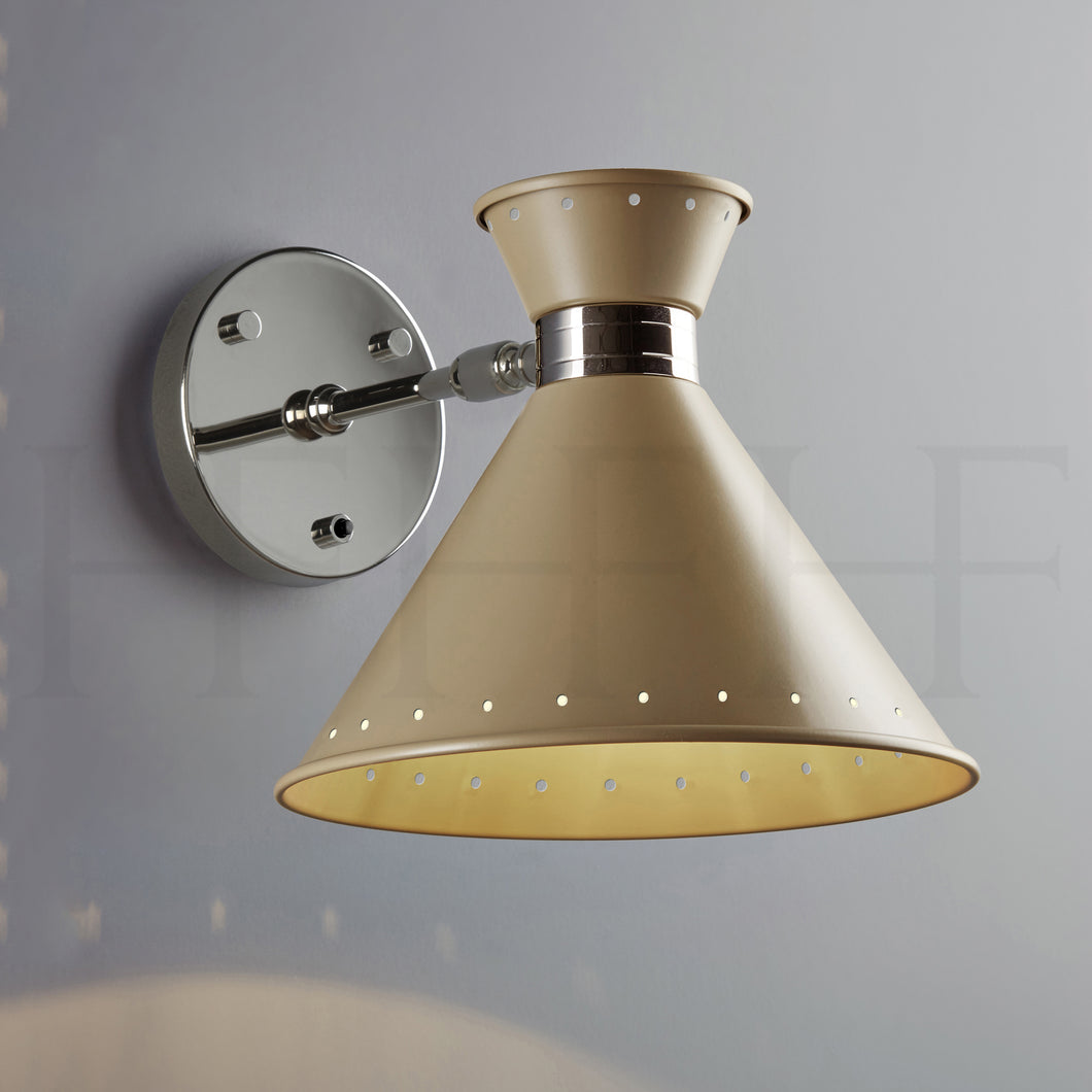 Tom Wall Light with switch, Taupe