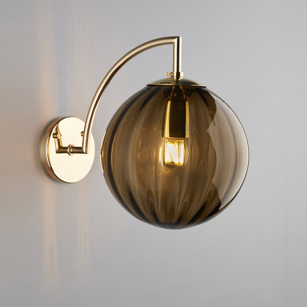 Paola Wall Light, Large, Marrone