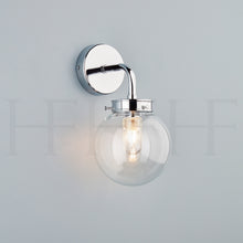 Load image into Gallery viewer, Hector Mini Globe Wall Light, Clear Glass