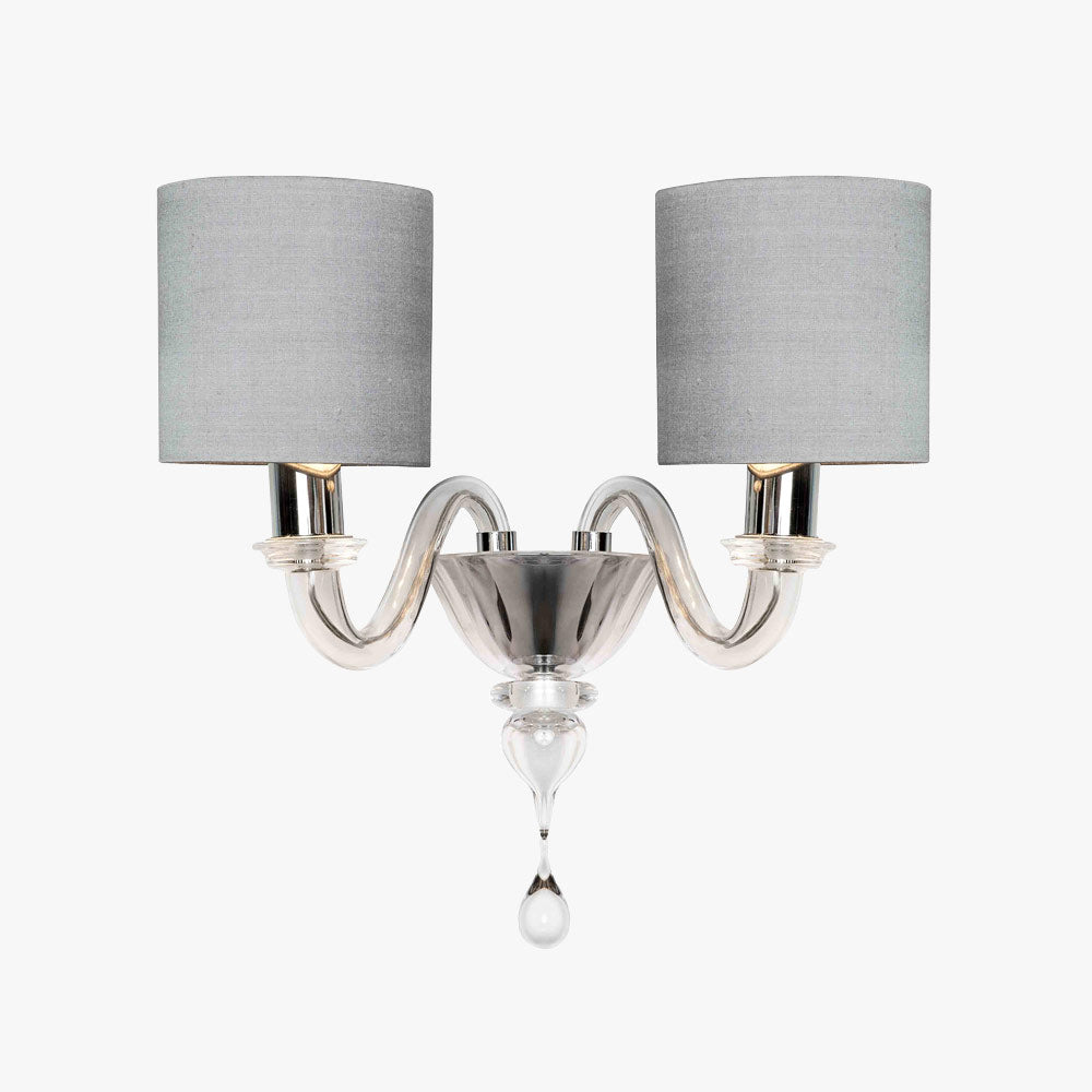 Raphael  Wall Light with drum shades