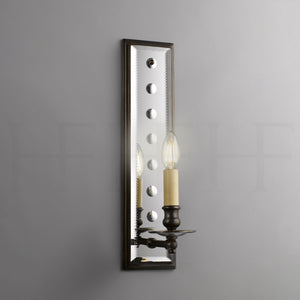 Mirror Back Wall Light with Spots