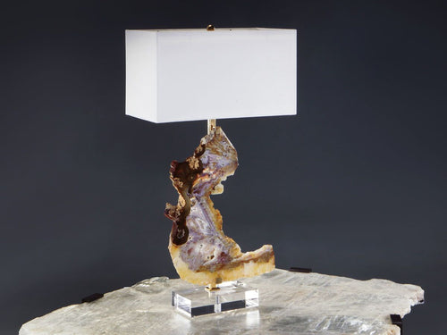 Agate and Amethyst Lamp