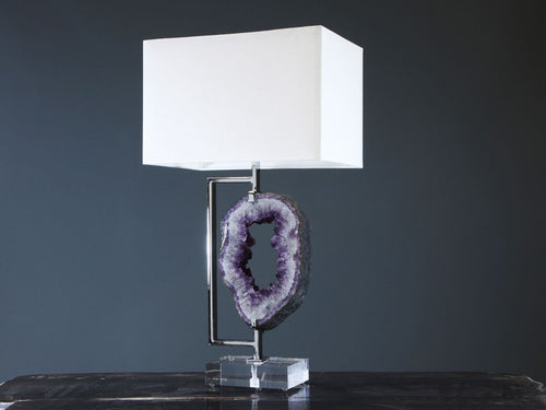 Amethyst Ring Lamp