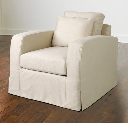 De-Vos Swivel Lounge Chair W/ Slipcover