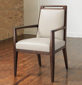 Fente Dining Chair with Arms