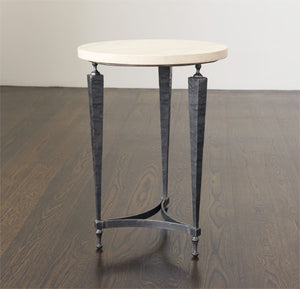 Coco Side Table W/ Limestone