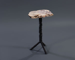 Giacometti cast bronze side table