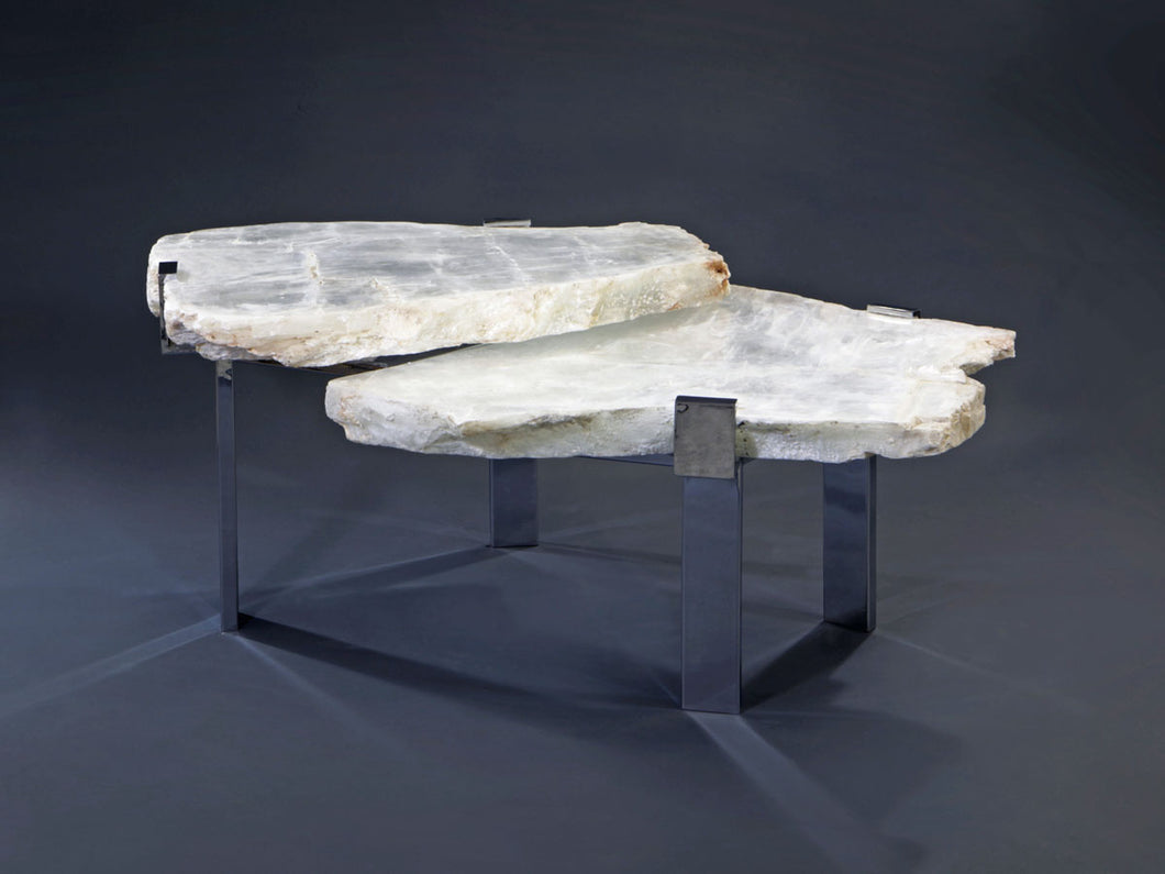 2 Tier Selenite Table