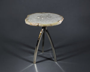 Tripod Side Table with Mineral Top