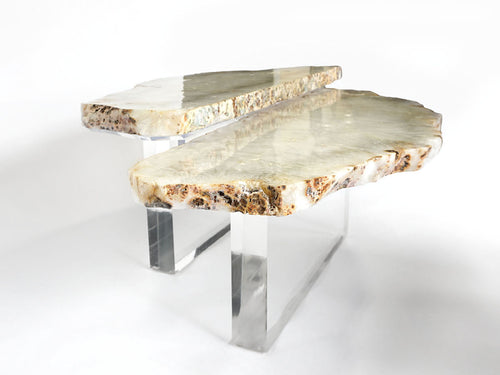 Agate on Acrylic Coffee Table