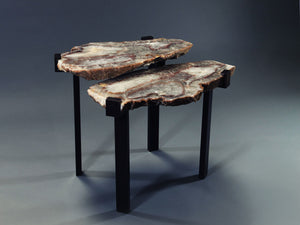 "Two Tier ""C"" Clamp Brazilian Agate Table"