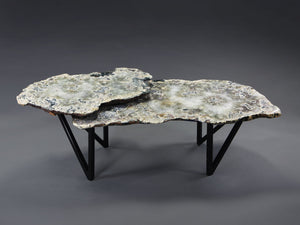 2 Tier Onyx Table with Split V Leg Base