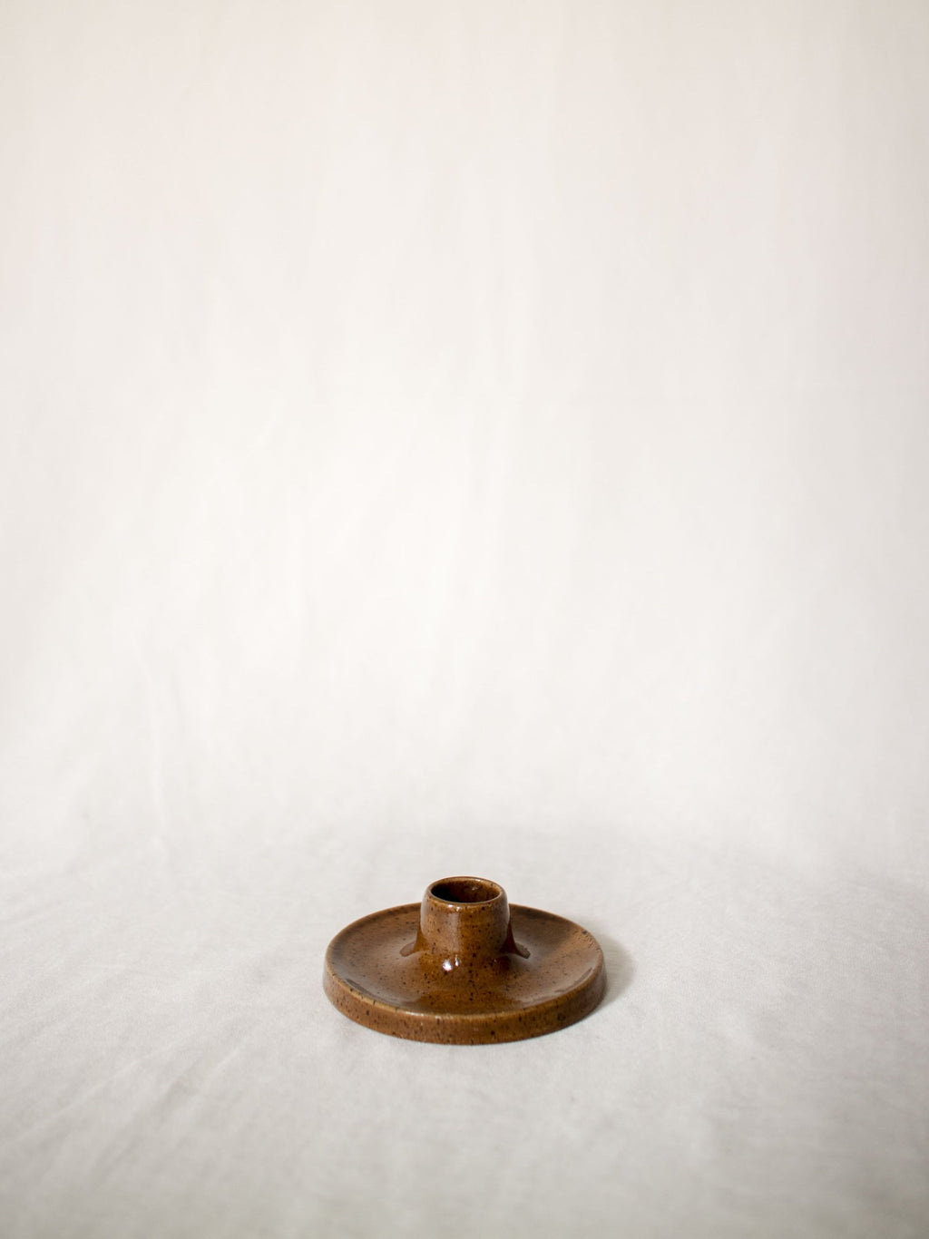 Candlestick holder - coffee