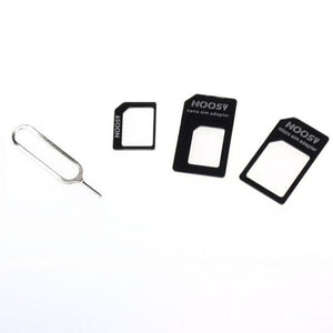 3 in 1 Nano Sim to Micro Sim to Standard SIM Card Adapter With Eject Pin - KingpinOnline