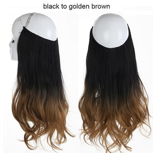 Natural-Style Halo Invisible Hair Extensions - KingpinOnline