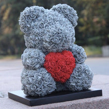 Load image into Gallery viewer, Handmade Love Heart Rose Teddy Bear - KingpinOnline