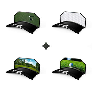 Golf - Green / Pack Of 4 - One Of Each Design - Hat-Tac