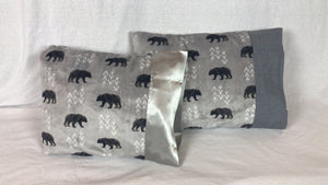 Bear Minky Travel Size Pillowcase
