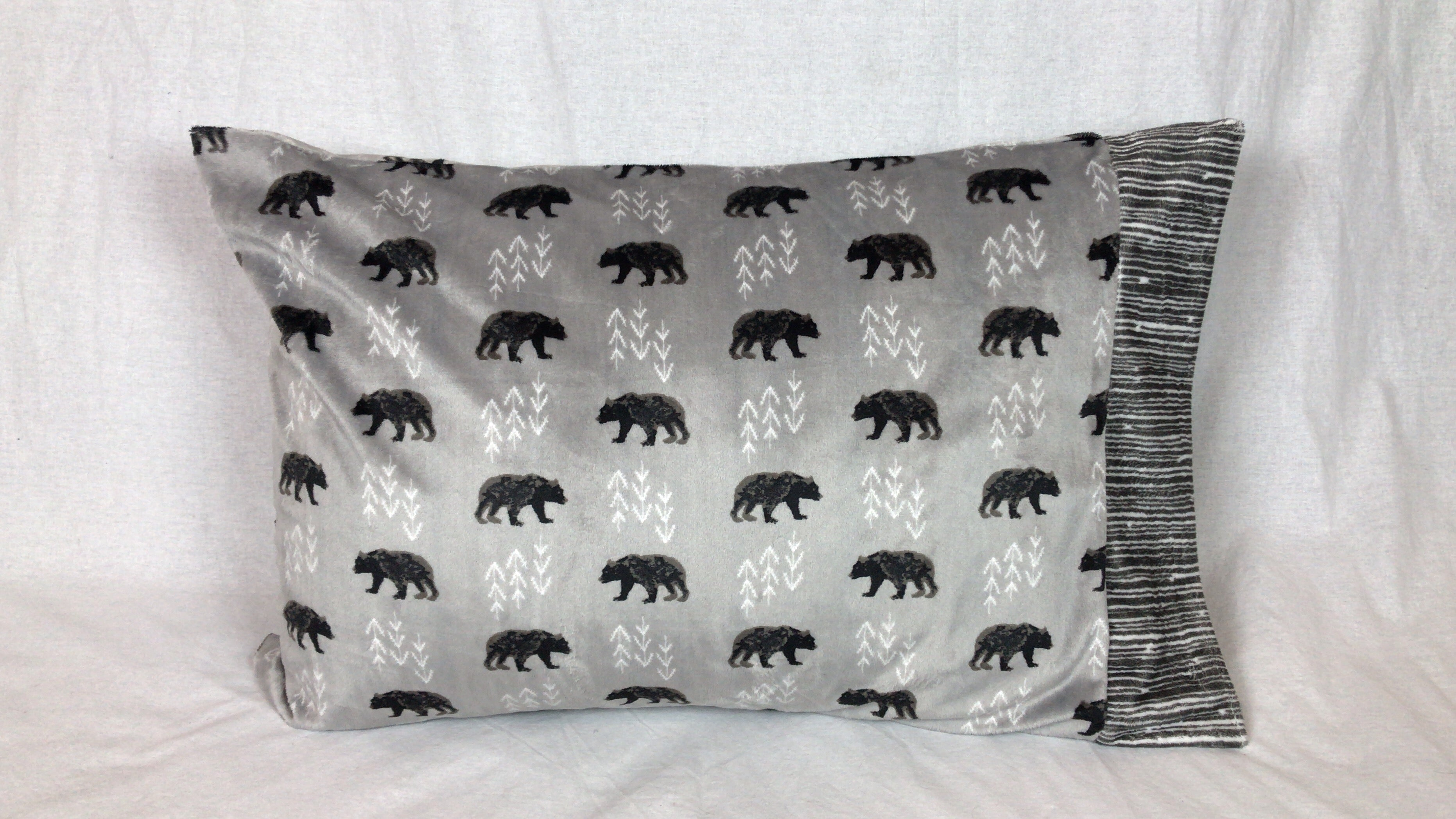 Bears Minky Standard Size Pillowcase