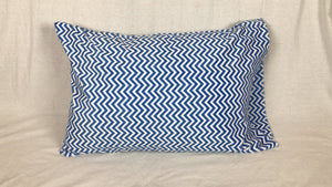 Electric Blue Minky Standard Size Pillowcase