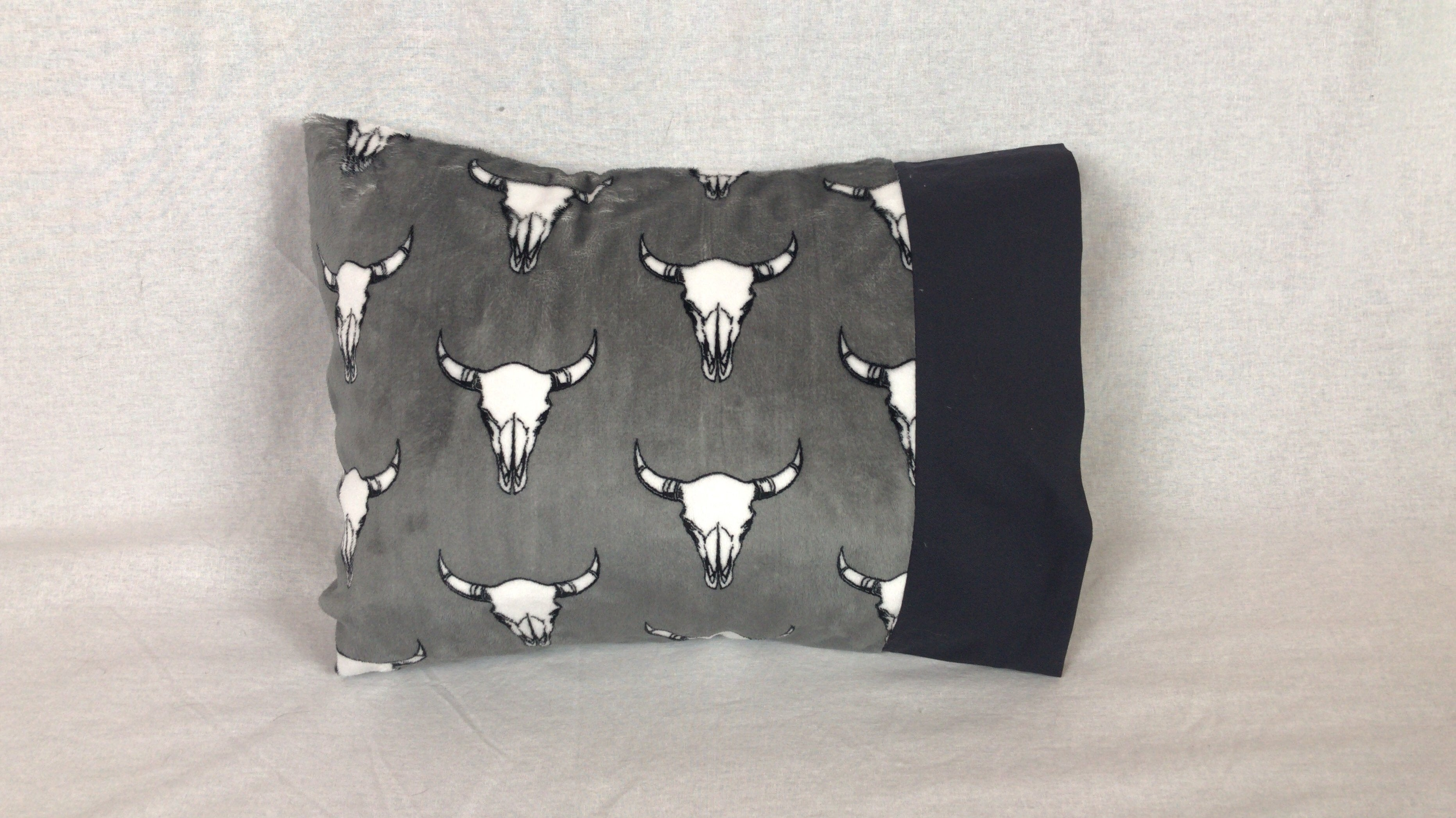 Longhorns Minky Travel Size Pillowcase