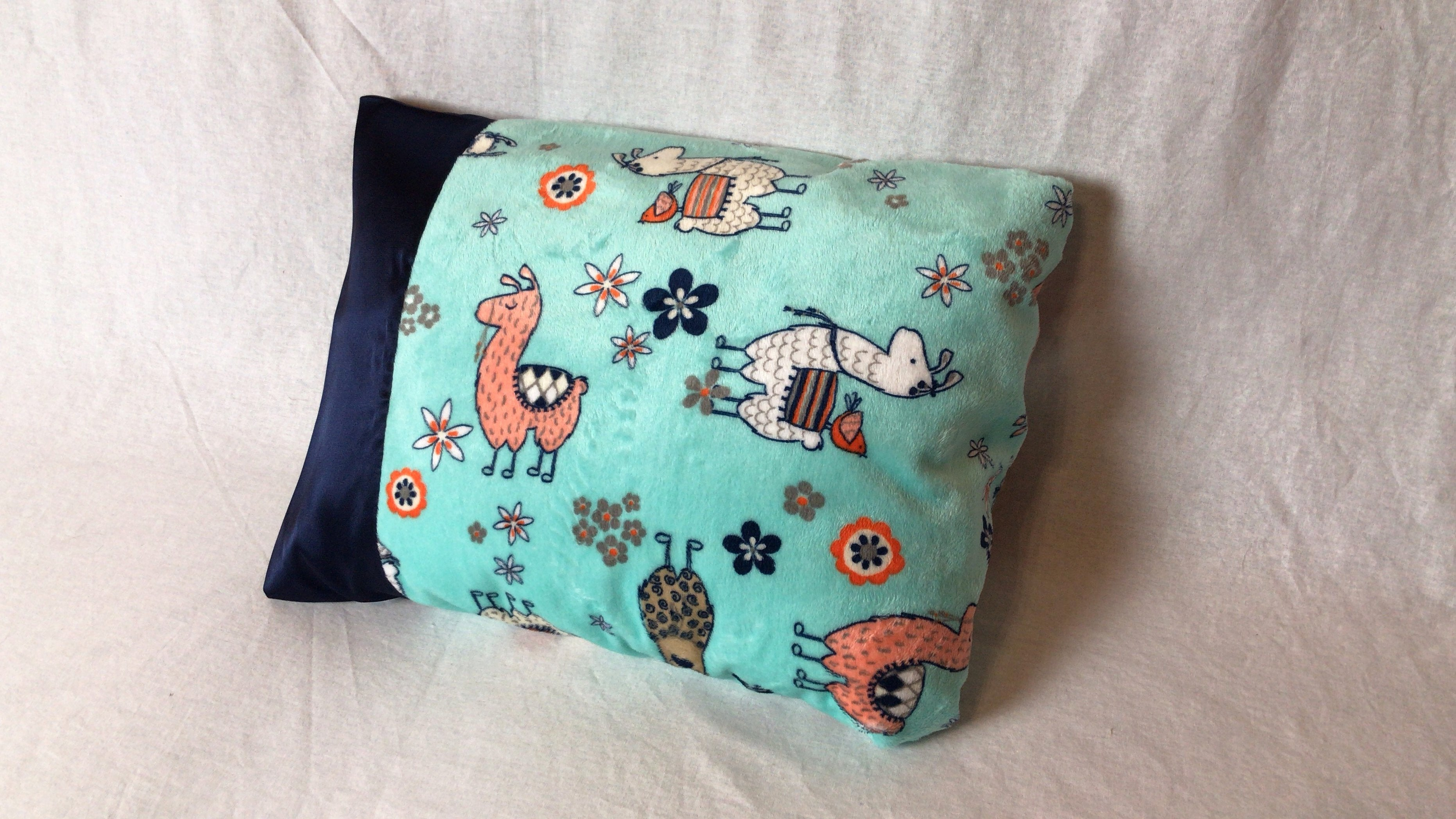 Llama Minky Travel Size Pillowcases