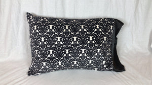 Damask Black and White Minky Standard Size Pillowcase