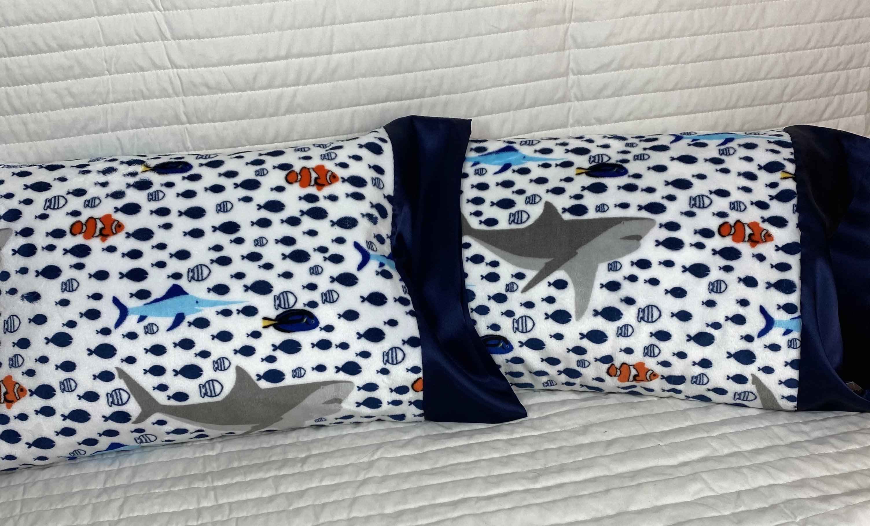 Swimming With The Fish Minky Travel Size Pillowcase
