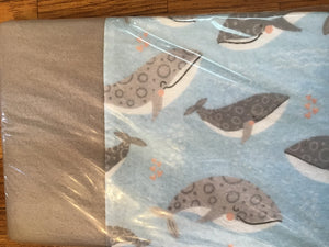 Whales Cotton Travel Size Pillowcase