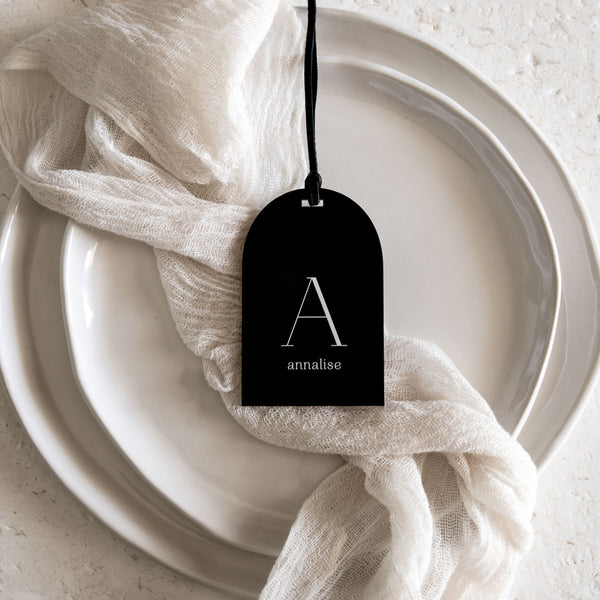 Acrylic Place Cards - Arch Tag