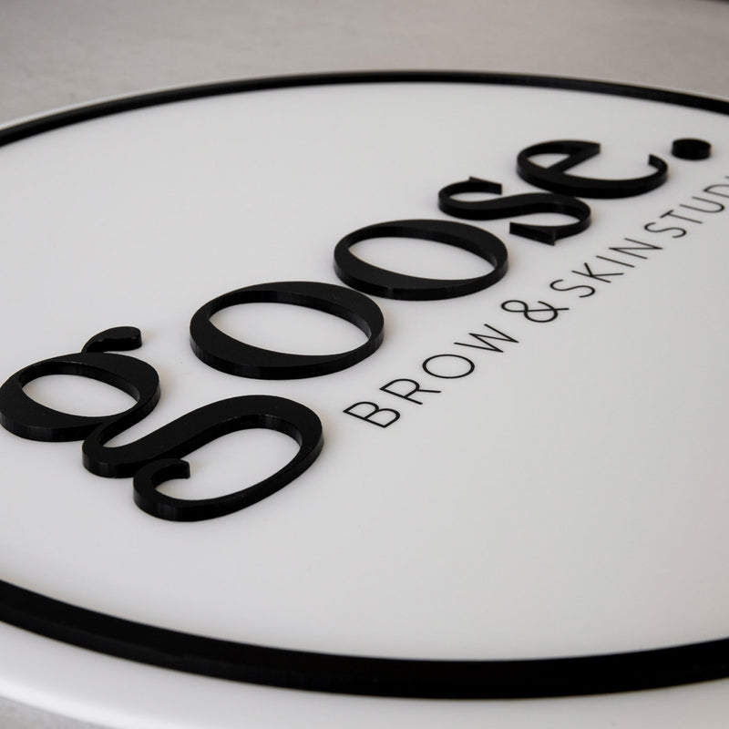 Acrylic Business Sign UV Printed + Acrylic