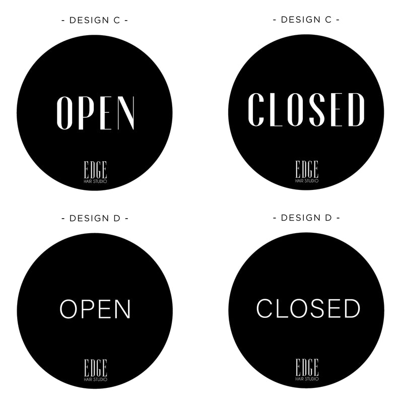Acrylic Open/Close Sign Round