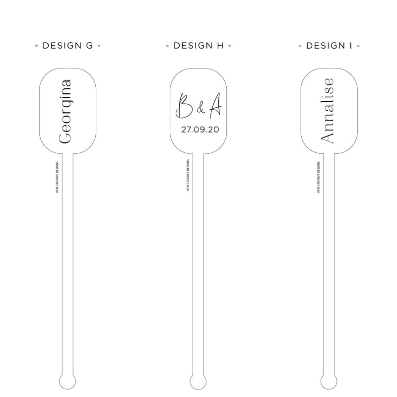 Drink Stirrers -  Rectangular