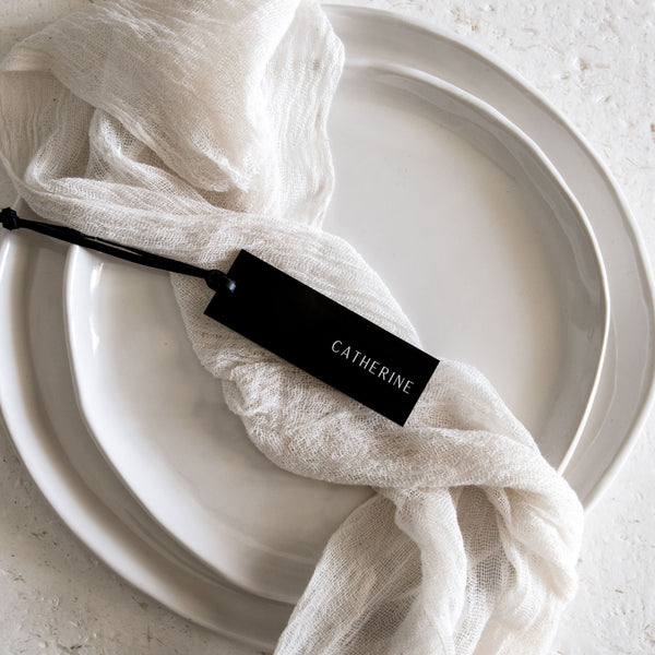 Acrylic Place Cards - Rectangle Tag