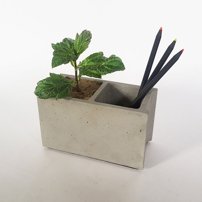 Concrete Block Table Planter