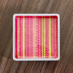 PINK SHIRA SQUARE TRAY